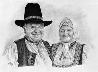 kresba_portret_dvojice_folklor_jubileum_RadekZdrazil-20173110