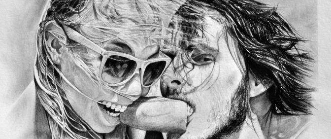 kresba portrét selfie
