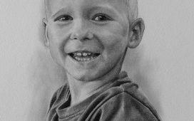 kresba portrét dítě