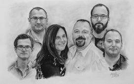 Kresba portrét na přání skupina