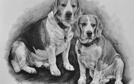 kresba pes na zakázku